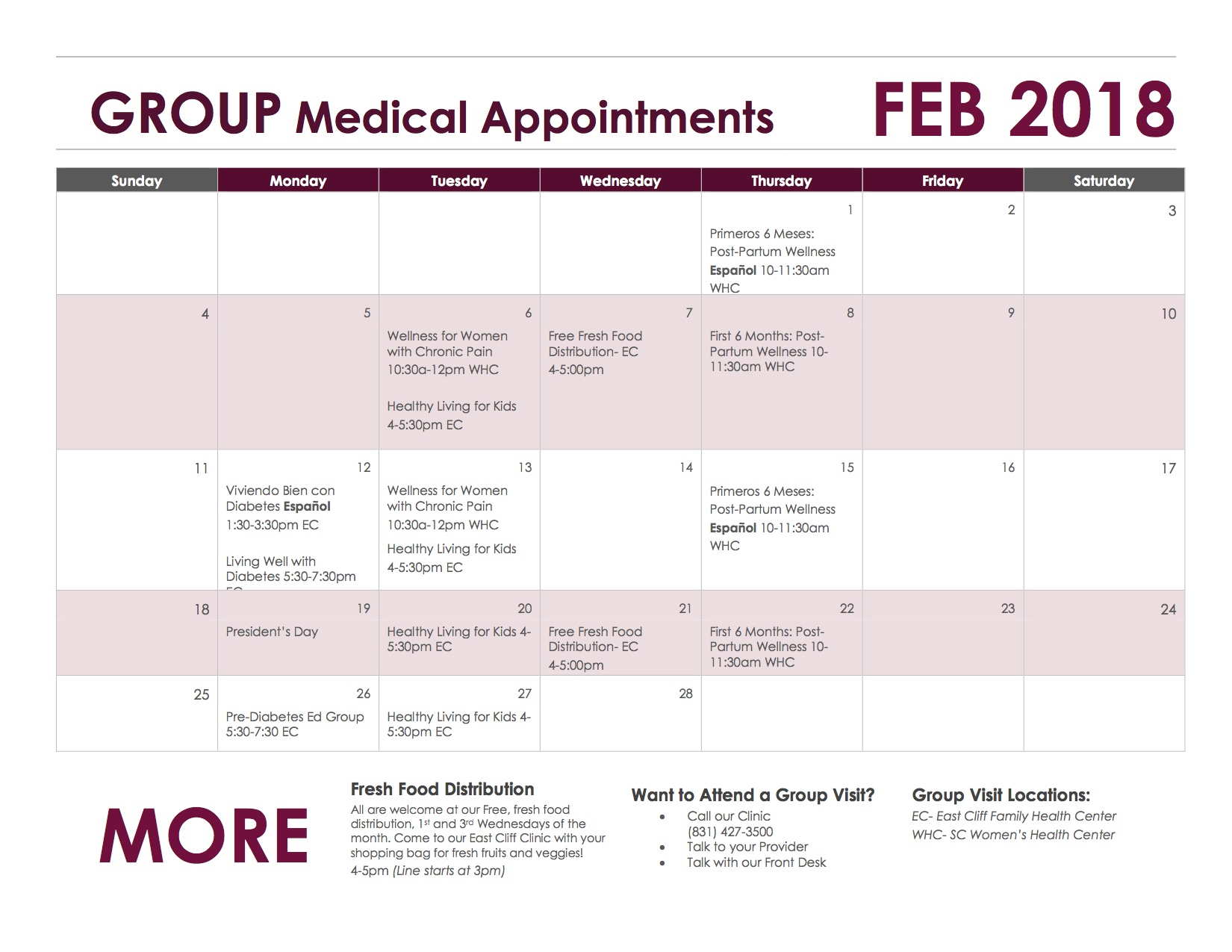 CALENDAR_GROUP Medical Appointments-FEB